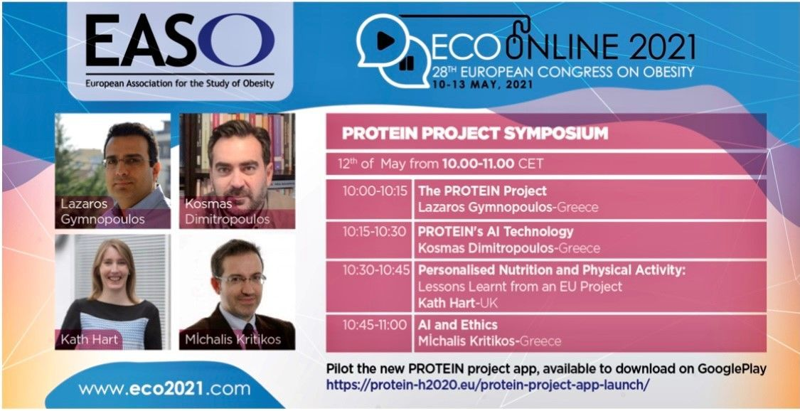 PROTEIN Symposium and App available at #ECO2021